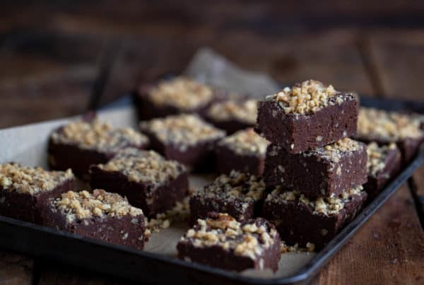 No Bake Walnut Brownies