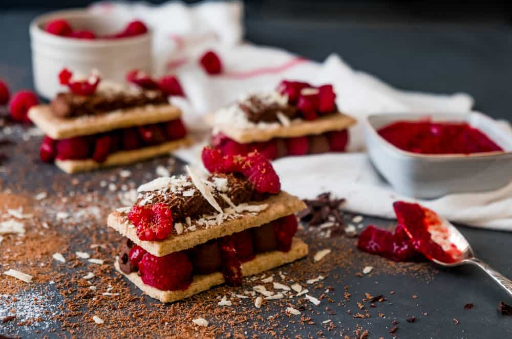 Chocolate Raspberry Mille Feuille