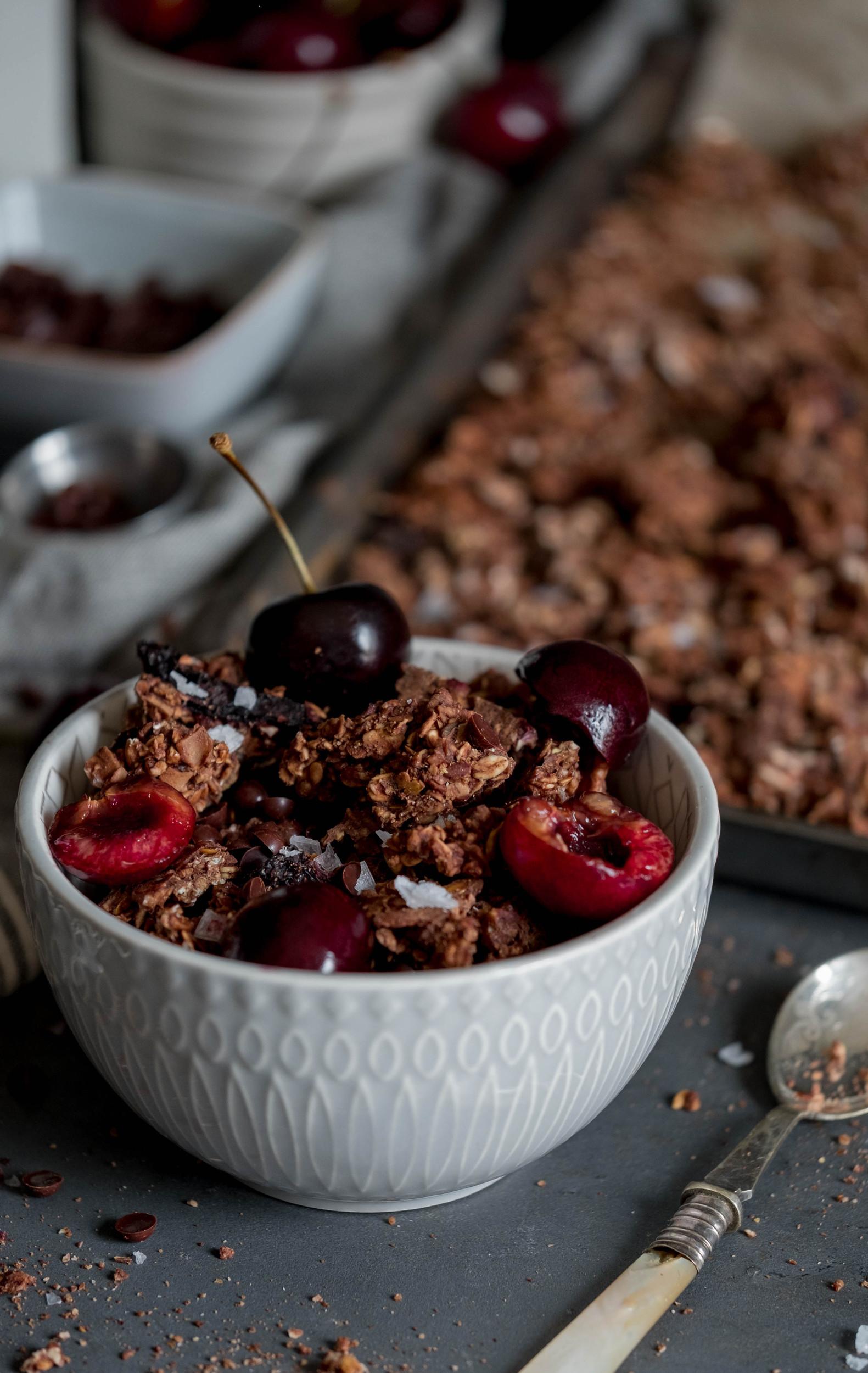 Chocolate Pecan Cherry Granola