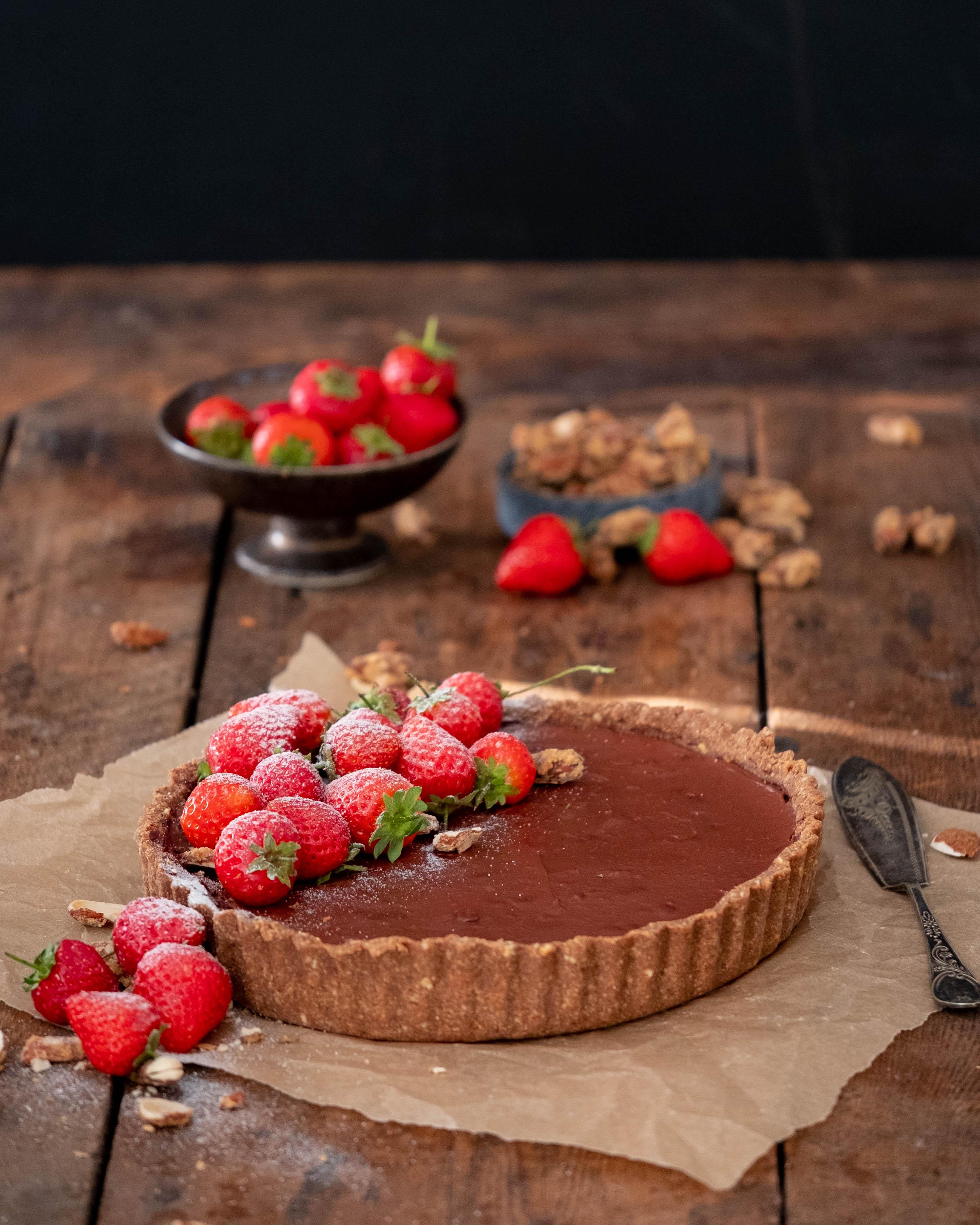 Strawberry Almond Ganache Tart