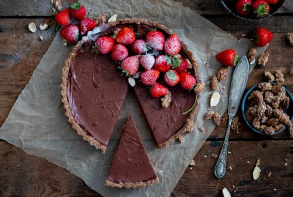 Strawberry Ganache Tart