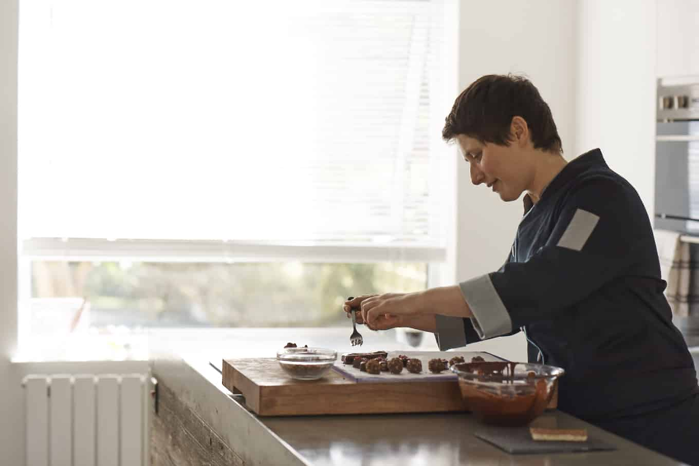 Amy Levin Making Chocolate