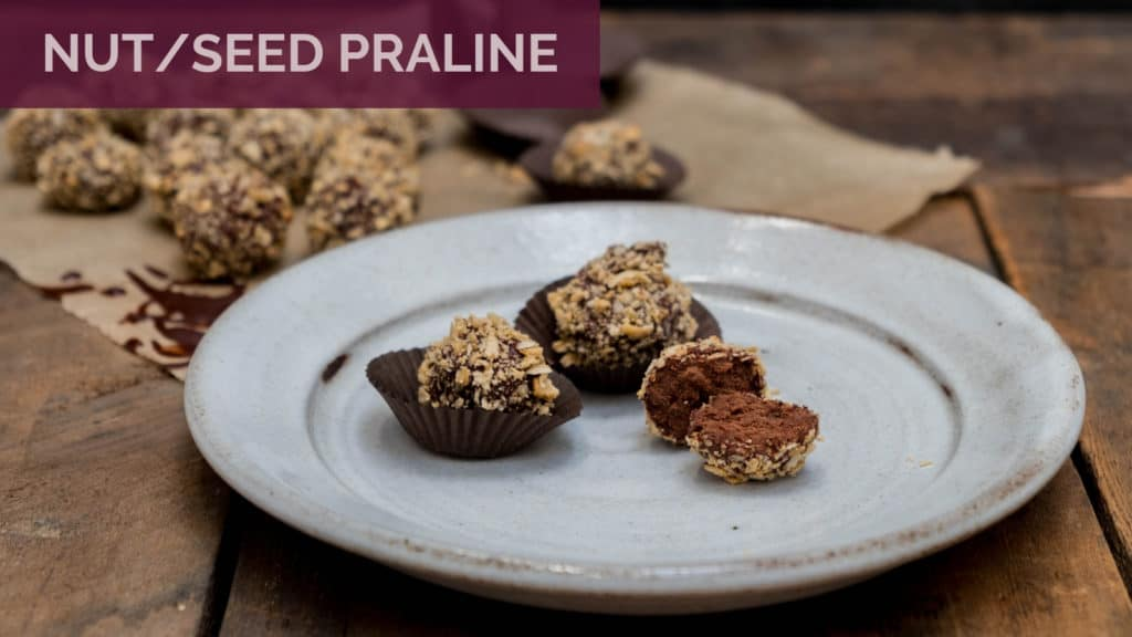Peanut Truffles on a rustic plate