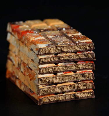 Gingerbread Chocolate Filled Bars